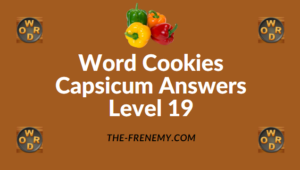 Word Cookies Capsicum Answers Level 19