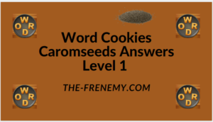 Word Cookies Caromseeds Level 1 Answers