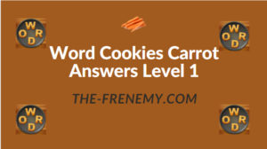 Word Cookies Carrot Answers Level 1