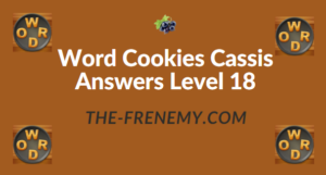 Word Cookies Cassis Answers Level 18