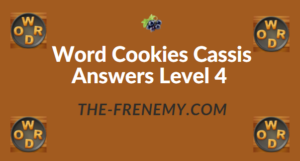 Word Cookies Cassis Answers Level 4