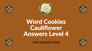 Word Cookies Cauliflower Answers Level 4
