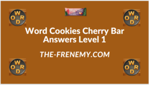 Word Cookies Cherry Bar Level 1 Answers