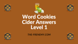 Word Cookies Cider Answers Level 1