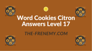 Word Cookies Citron Answers Level 17