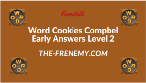 Word Cookies Compbel Early Level 2 Answers