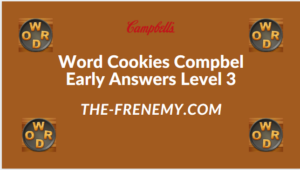 Word Cookies Compbel Early Level 3 Answers