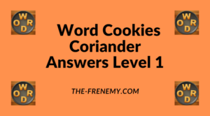 Word Cookies Coriander Level 1 Answers