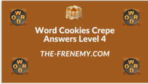 Word Cookies Crepe Level 4 Answers