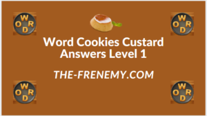 Word Cookies Custard Level 1 Answers