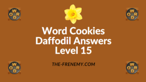 Word Cookies Daffodil Level 15 Answers