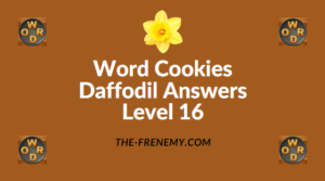 Word Cookies Daffodil Level 16 Answers