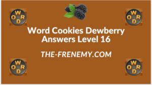 Word Cookies Dewberry Level 16 Answers