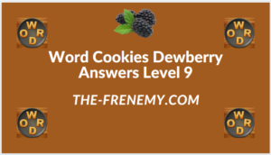 Word Cookies Dewberry Level 9 Answers