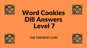 Word Cookies Dill Level 7 Answers