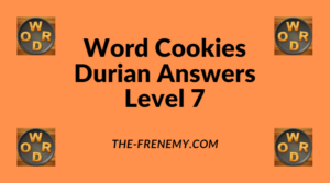 Word Cookies Durian Level 7 Answers