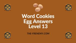 Word Cookies Egg Answers Level 13