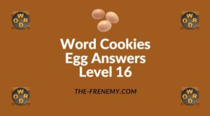 Word Cookies Egg Answers Level 16