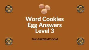 Word Cookies Egg Answers Level 3