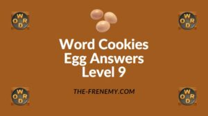 Word Cookies Egg Answers Level 9