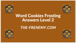 Word Cookies Forsting Level 2 Answers