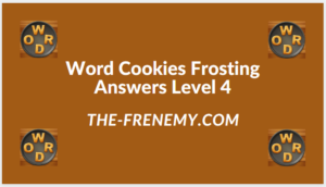 Word Cookies Forsting Level 4 Answers