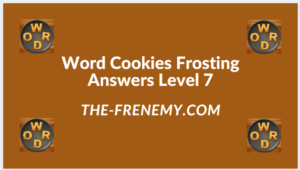 Word Cookies Forsting Level 7 Answers
