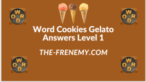 Word Cookies Gelato Level 1 Answers