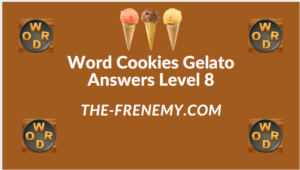 Word Cookies Gelato Level 8 Answers