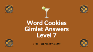 Word Cookies Gimlet Answers Level 7
