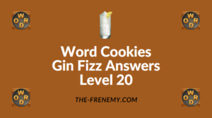Word Cookies Gin Fizz Answers Level 20