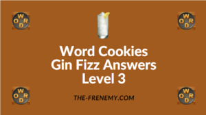 Word Cookies Gin Fizz Answers Level 3
