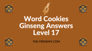 Word Cookies Ginseng Answers Level 17
