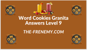 Word Cookies Granita Level 9 Answers