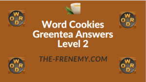 Word Cookies Greentea Answers Level 2