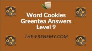 Word Cookies Greentea Answers Level 9