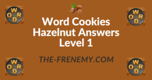 Word Cookies Hazelnut Answers Level 1