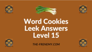 Word Cookies Leek Answers Level 15