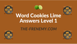 Word Cookies Lime Answers Level 1