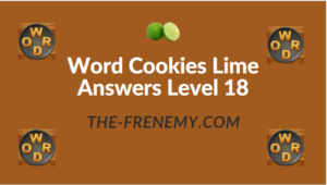 Word Cookies Lime Answers Level 18