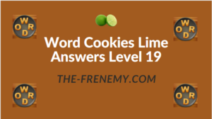 Word Cookies Lime Answers Level 19