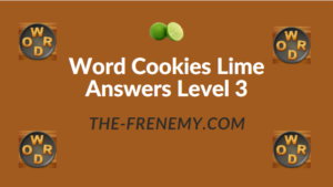 Word Cookies Lime Answers Level 3