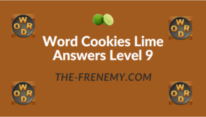 Word Cookies Lime Answers Level 9