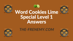 Word Cookies Lime Special Level 1 Answers