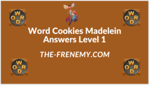 Word Cookies Madelein Level 1 Answers