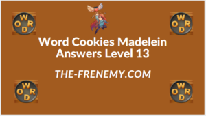 Word Cookies Madelein Level 13 Answers