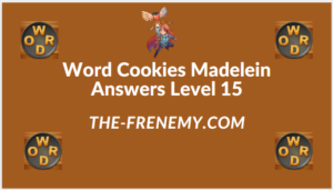 Word Cookies Madelein Level 15 Answers