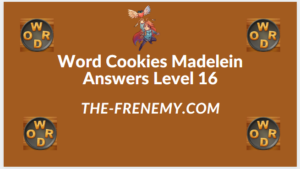 Word Cookies Madelein Level 16 Answers