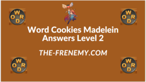 Word Cookies Madelein Level 2 Answers