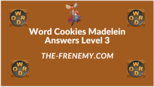 Word Cookies Madelein Level 3 Answers